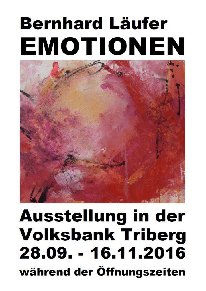 Plakat Ausstellung Volksbank